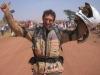 Dakar Rally op een oldtimer-motor